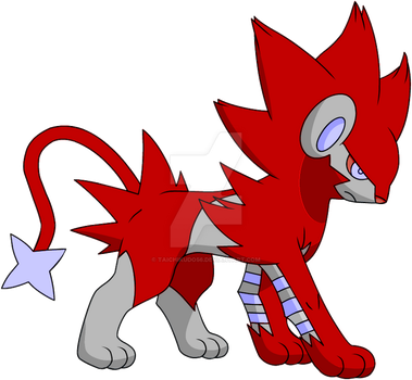 Red Luxray by TaichiKudo56