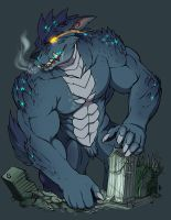 Zetsubo the Swolzilla by HopeyWolf