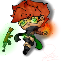 Chibi War Spence (Idkwhatelsetocallthis) by CreativeMediaPersona