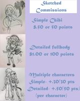 Sketch Commissions OPEN by JeansLily