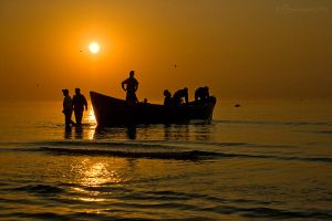 fishermen by Krima
