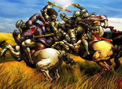 The Battle of Anghiari Reloaded by The-Last-Phantom