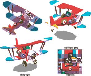 Lowpoly Biplane by KennethFejer