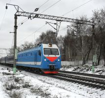 The passenger train from Moscow to Sochi by Ferrabra