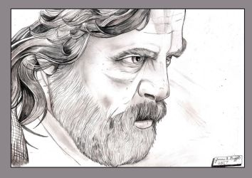Luke Skywalker The Last Jedi by Punch-line-designs