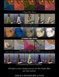 Textile Shaders for Daz Studio iRay Textiles Pt. 3 by BohemianHarlot