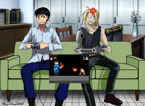 Fullmetal VS Flame: Video Game Style by Rizu-Chan003