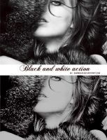Black and white action by Shameika