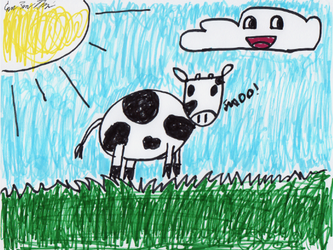 Evan Made a cow by mibevan