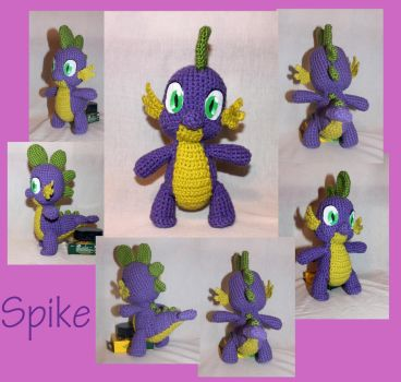 Spike the Dragon Amigurumi by MilesofCrochet