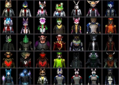 A Bunch of Starfox Talking Portraits by UndyingNephalim