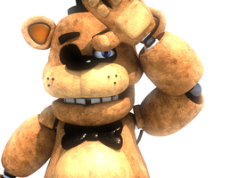 (C4D)Freddy in the sun by SpringBonnieNotTrap
