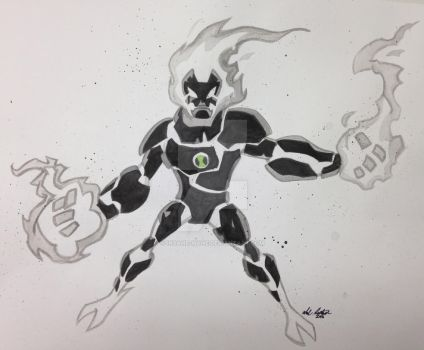 Heatblast inkwash by insanedude24