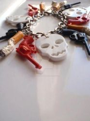 Smoking - Skulls Bracelet by Tattooed-Gumball