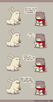 Rabbit and Crayon weekly comic - Cake by DaveRabbit