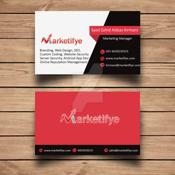 Marketing Manger Business card in New York by zamir