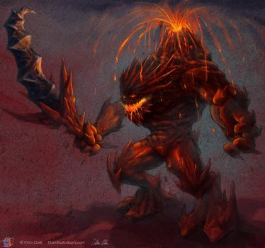 Lava Demon by Stoskri