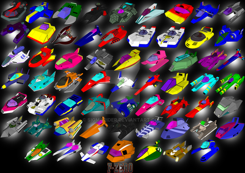 F-ZERO MACHINES IN SKETCHUP by SIGMARIDER