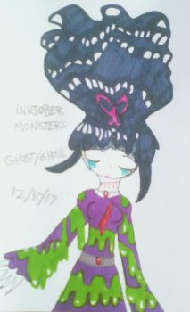 ~iNKTOBER Monsters! Day 12 Ghost/Ghoul~ 2017 by MC-Gemstone
