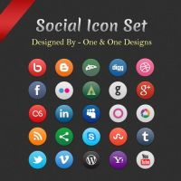 Social Icon Set by oneandonedesigns