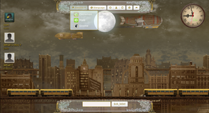 Steampunk Blimp City by samriggs