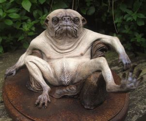 pug creature painted cast by BOULARIS