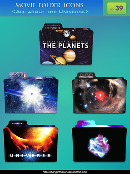 Movie folder icons NO.39 _All about the Universe by dyinginthesun
