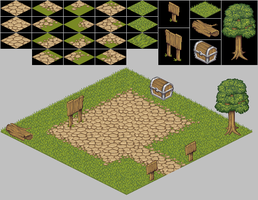 Basic isometric tile set by unit-35
