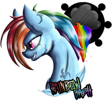 Character Badge - Rainbow Dash (Redux) by Glitchdove