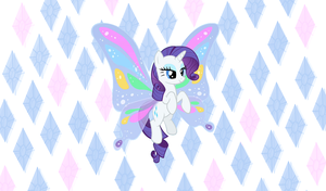 Winged Rarity Wallpaper by StrawberryHollow