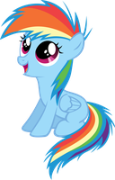 Filly Rainbow Dash by Shnakes