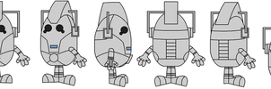 Mr. Men-fied 2013 Cybermen Model Reference by Percyfan94