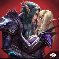 ...Commission: Blood Elf Couple... by ShadowPriest