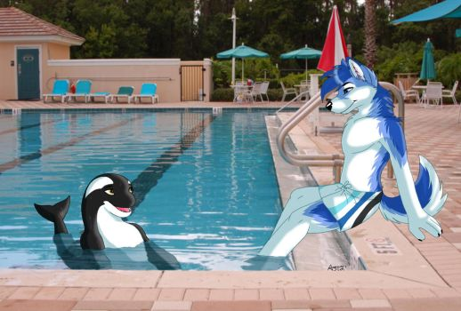 Swimming Lessons by CelestialWolfen