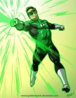 Green Lantern of Sector 2814 by ArtistAbe