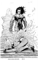 Darkness/Angelus by Broussard - inks by JeffGraham-Art