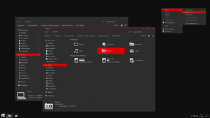 Gray10-v4 Red for Windows 10 RS2\RS3\RS4 by gsw953onDA
