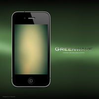Greenwave - iPhone Retina Wallpaper by infopower