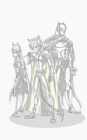 Miraculous BatTeam doodle by GoFouster