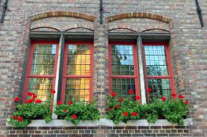 Twins Red Windows by Lissou-photography