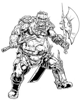 Ogre Chieftan for Dungeon Crusade by Cadre