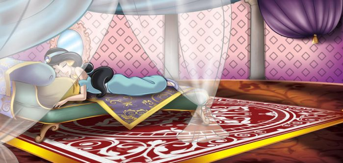 jasmine sleeping by Russian87