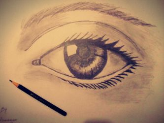 Realistic Eye Sketching by abhinendrachauhan