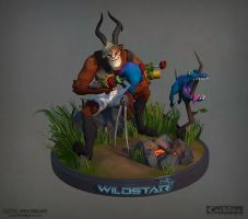 Wildstar Online, Draken Turntable 3D model by Ko-hitsuji