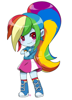 Equestria Girls Rainbow Dash chibi COMMISSION by chocone