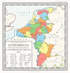 The Kingdom of Lotharingia in 1815 by HouseOfHesse