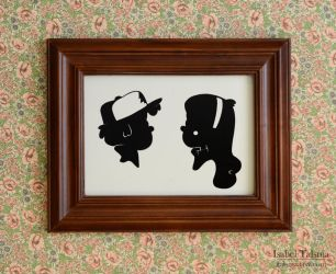 The Mystery Twins (Gravity Falls Silhouettes) by fit51391