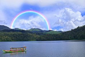 a rainbow by maleica