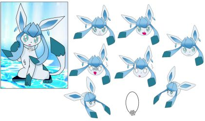 Snow The Glaceon by widwan