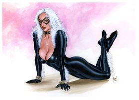 BLACK CAT Bw435 by AlexMirandaArt